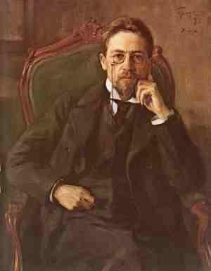 Портрет Чехова, написанный О.Э. Бразом