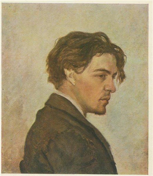 Портрет Чехова, написанный Николаем Чеховым