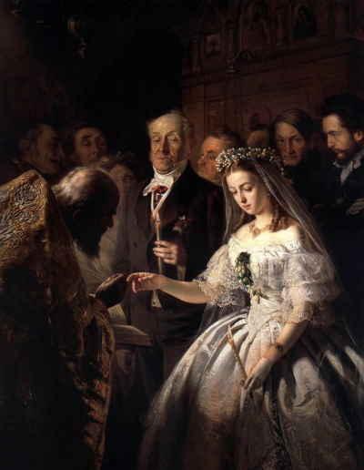 Неравный брак, В.В. Пукирев, 1862, ГТГ