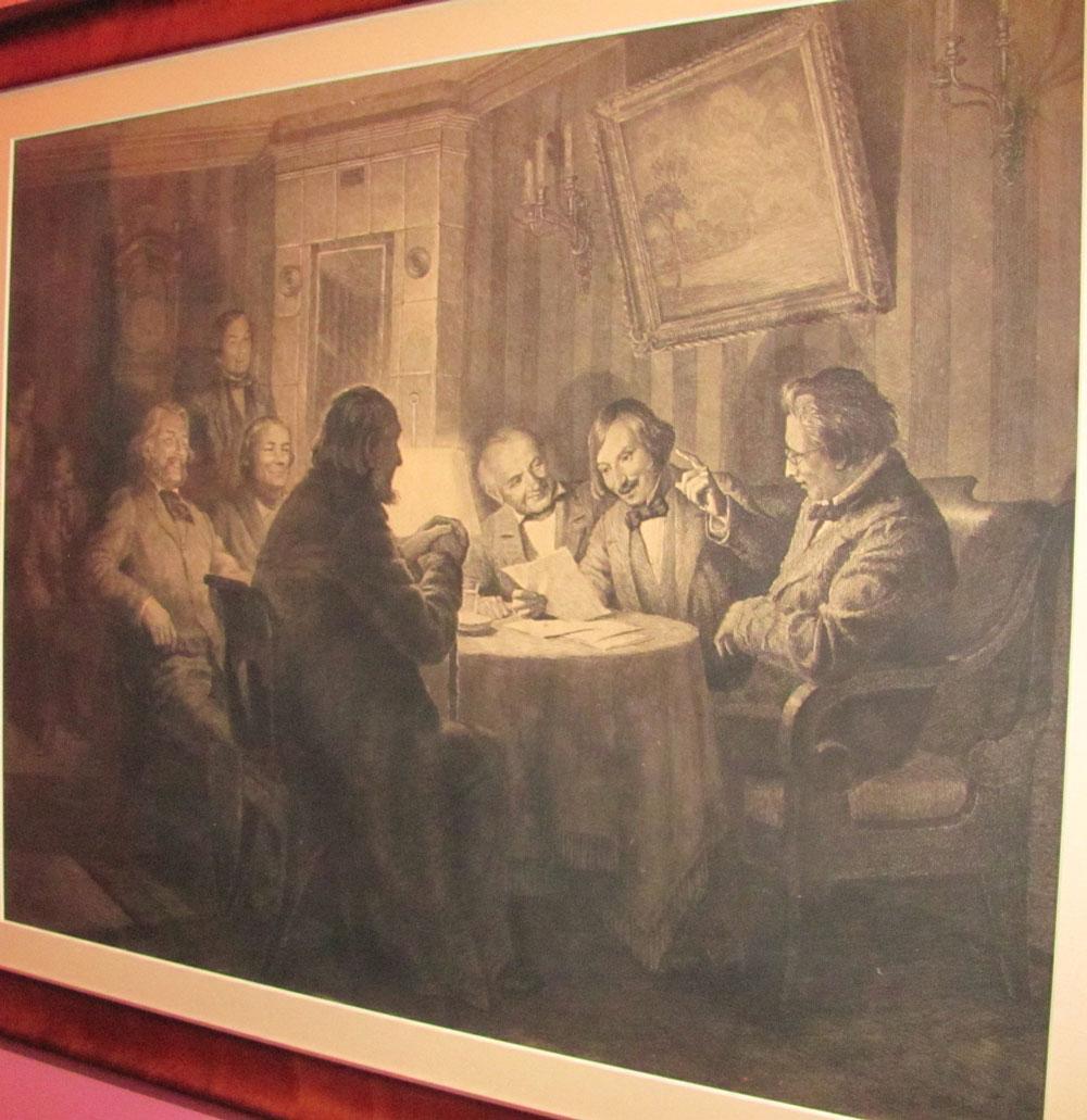 Гоголь читает свои произведения литераторам - картина