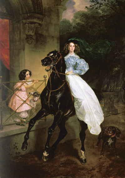 Всадница, Карл Брюллов (1832), ГТГ
