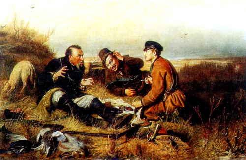 Василий Перов. Охотники на привале. 1871, ГТГ