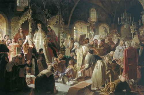 Василий Перов. Никита Пустосвят. Спор о вере. 1880—1881, ГТГ