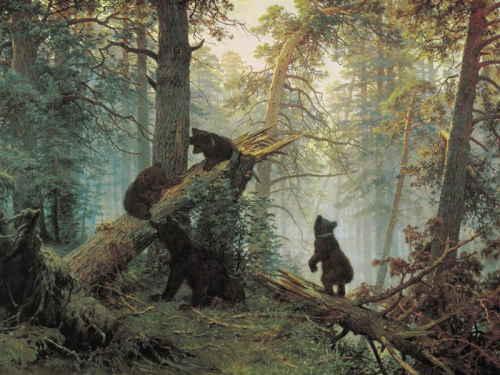 Шишкин И.Н. Утро в сосновом лесу, 1889, ГТГ