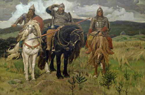 Васнецов В. Богатыри, 1898, ГТГ