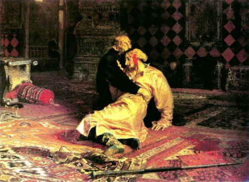 Репин И., Иван Грозный и сын его Иван. 16 ноября 1581, 1885, ГТГ