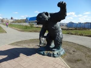 Ярославль. Парк 1000-летия Ярославля. Скульптура Медведь