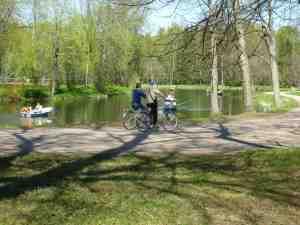 Павловский парк. Прокат велосипедов