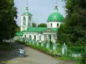 Воробьевы горы. Троицкая церковь на Воробьёвых горах