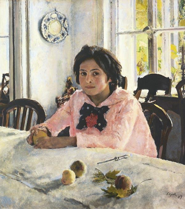Девочка с персиками. Портрет В.С.Мамонтовой (Серов В.А.)