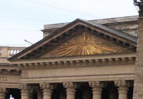 Массонский знак на казанском соборе