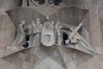 Барселона. Саграда Фамилия, Sagrada Família. Скульптура Иисуса Христа, несящего крест (западный фаса д Храм Святого Семейства (Саграда Фамилия, Sagrada Familia))
