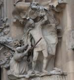 Барселона. Саграда Фамилия, Sagrada Família. Скульптура изображающая Избиение младенцев (западный фасад Храм Святого Семейства (Саграда Фамилия, Sagrada Familia))