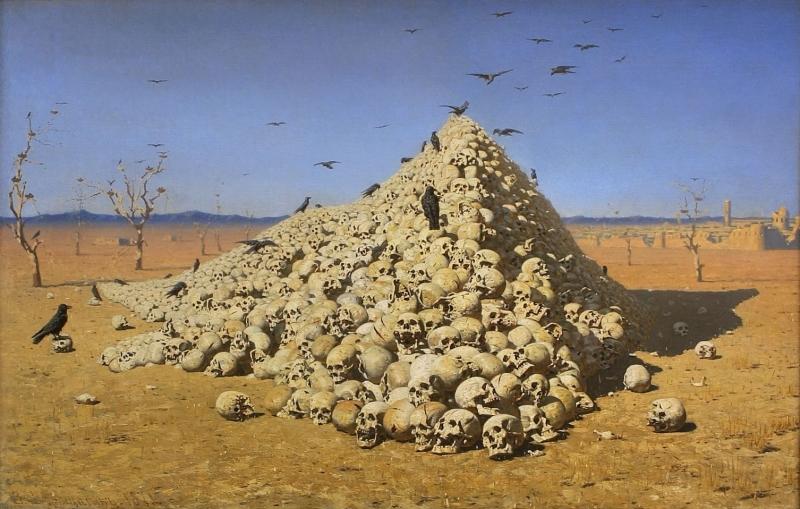 Апофеоз войны, художник Василий Верещагин, 1871, Государственная Третьяковская галерея
