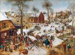 Перепись населения в Вифлееме. Питер Брейгель-младший,  1611 г.