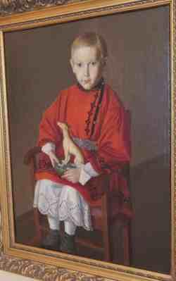 Мальчик с игрушкой, 1-я половина 19 века. Неизвестный художник. Художественная галерея (Смоленск)