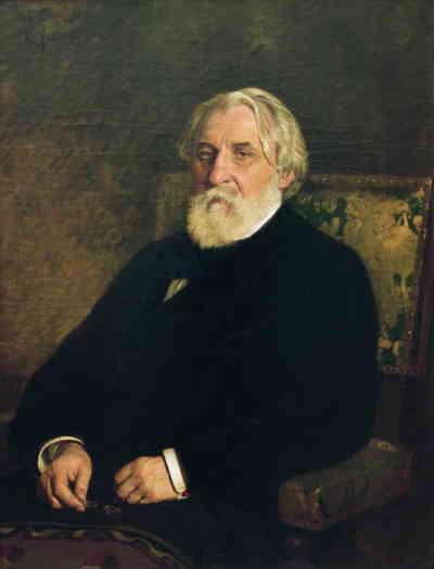 Портрет Тургенева Ивана Сергеевича (художник Репин, 1874, ГТГ)