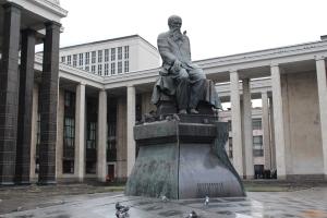 Москва,  Памятник Достоевскому у Российской государственной библиотеки