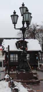Москва,  Фонарь у Памятника А. С. Пушкину на Пушкинской площади
