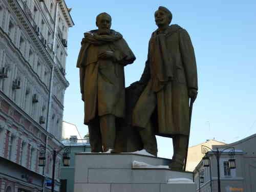 Камергерский переулок. Памятник Станиславскому и Немировичу-Данченко
