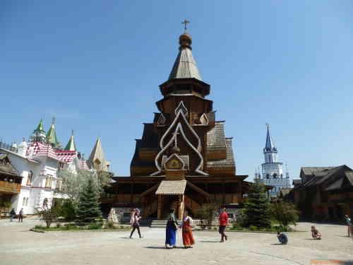 Кремль в Измайлово. Деревянный Храм Святителя Николая