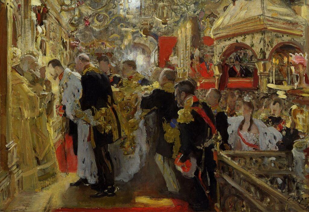 Москва. Коронация. Миропомазание Николая II в Успенском соборе (1896 г.)