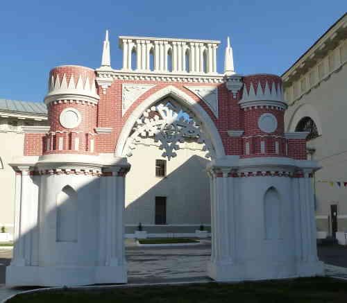 Москва. Парк Царицыно. Макет Фигурные (виноградные) ворота в Музее Москвы