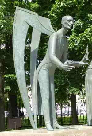 Наркомания. Дети — жертвы пороков взрослых, Скульптурная композиция М. М. Шемякина (Москва)