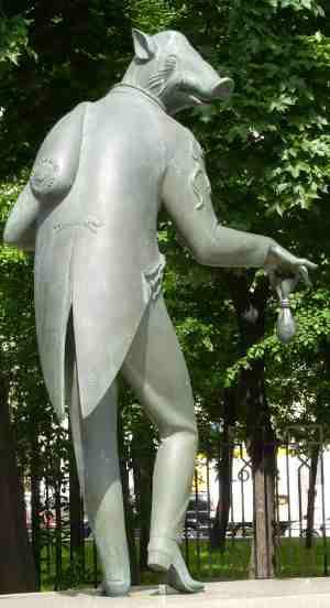 Воровство. Дети — жертвы пороков взрослых, Скульптурная композиция М. М. Шемякина (Москва)