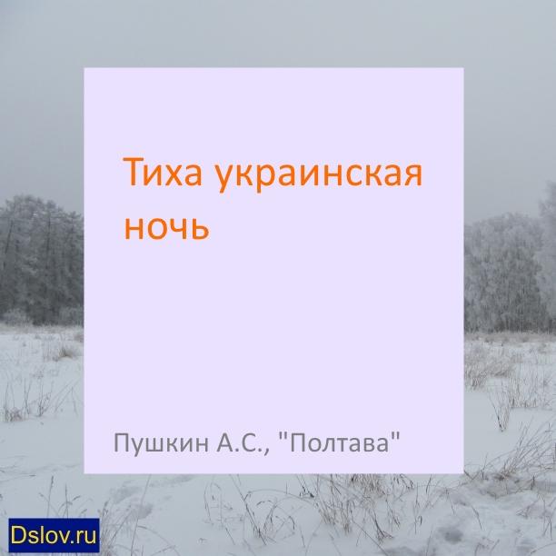 Тиха украинская ночь