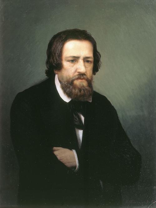 Портрет художника А. А. Иванова работы художника С. П. Постникова
