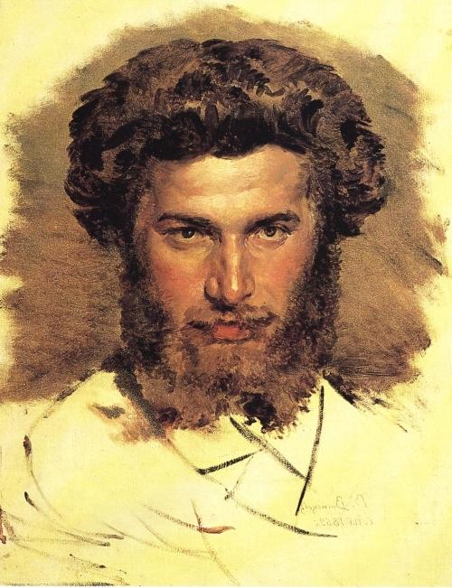 Портрет Архипа Куинджи работы В. М. Васнецова, 1869 г.