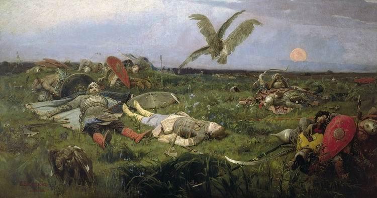 После побоища Игоря Святославича с половцами, картина В. Васнецов