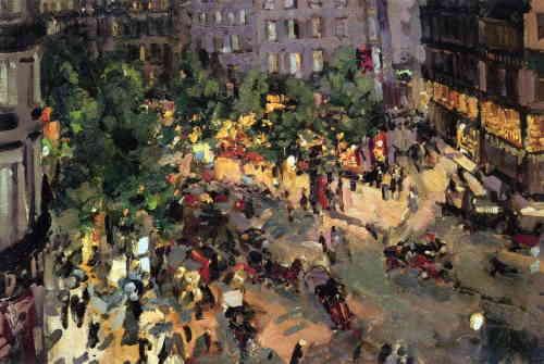 Париж. Бульвар Капуцинок, 1906 г., художник Коровин Константин Алексеевич (ГТГ)