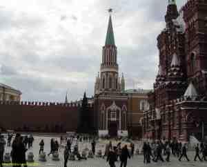 Московский кремль. Никольская башня Московского кремля