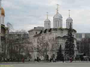 Московский кремль. Патриарший дворец и церковь Двенадцати апостолов